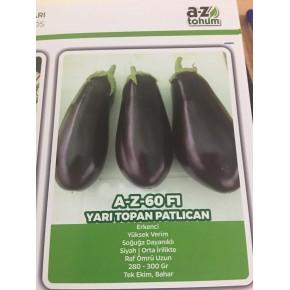 Hibrit Yarı Topan Patlıcan Tohumu - AZ-60 F1 - 1.000 Adet Tohum